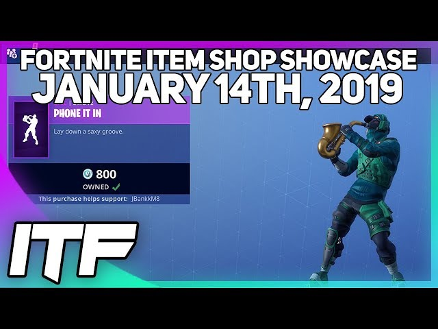Fortnite Item Shop PHONE IT IN EMOTE IS BACK! [January 14th, 2019] (Fortnite Battle Royale)