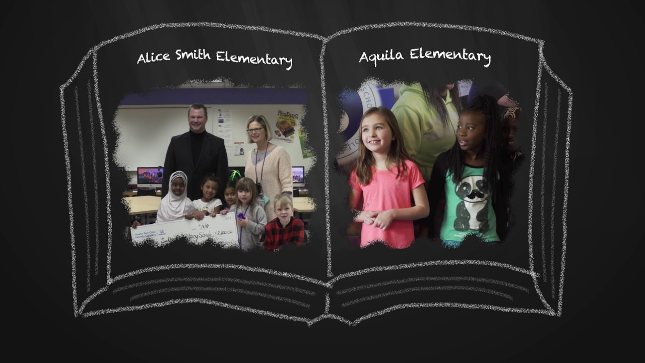 Life Is Better Thanks To Greater Twin Cities Honda Dealers | Alice Smith  Elementary School Donation