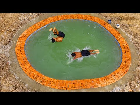 Build Most Beautiful Swimming Pool In Front Of Five - story Mud Hotel