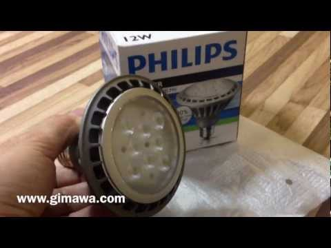 Lampada led philips par master w v dimerizavel youtube