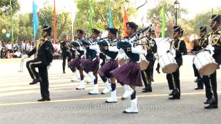 Sri Lanka Air Force Band performs on the Platinum Jubilee of Indian Air Force