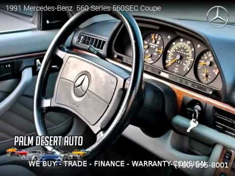 1991 mercedes benz 560 series 560sec coupe palm desert for Mercedes benz palm desert