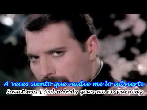 Queen - Freddie Mercury - Living On My Own Subtitulado Espa�ol Ingles HD