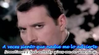 Queen - Freddie Mercury - Living On My Own Subtitulado Español Ingles HD