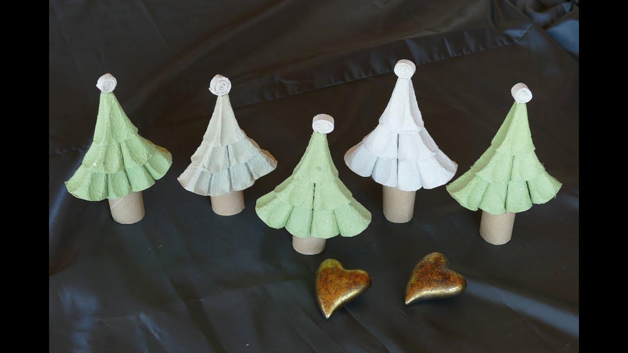 weihnachtsdeko tannenbaum christmas tree weihnachtsbasteln aus eierschachteln youtube. Black Bedroom Furniture Sets. Home Design Ideas