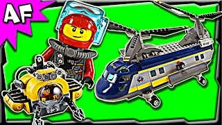 lego city deep sea helicopter 60093 stop motion build review