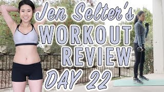 Not Seeing Results? JEN SELTER Bikini Body Challenge Workout Day 22 | Fitplan App Review