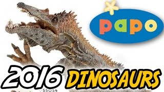 NEW Papo® 2016 DINOSAURS | Images & Discussion | Baryonyx Feathered Raptor Running T.rex repaint