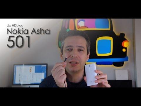 Nokia Asha 501 dual sim la videoprova di HDblog.it