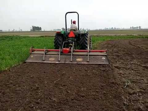 12 feet yodha rotavator rotary tiller working in field video india punjab www.saecoagrotech.com