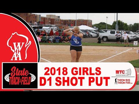 2018 WIAA STATE D1 GIRLS SHOT PUT