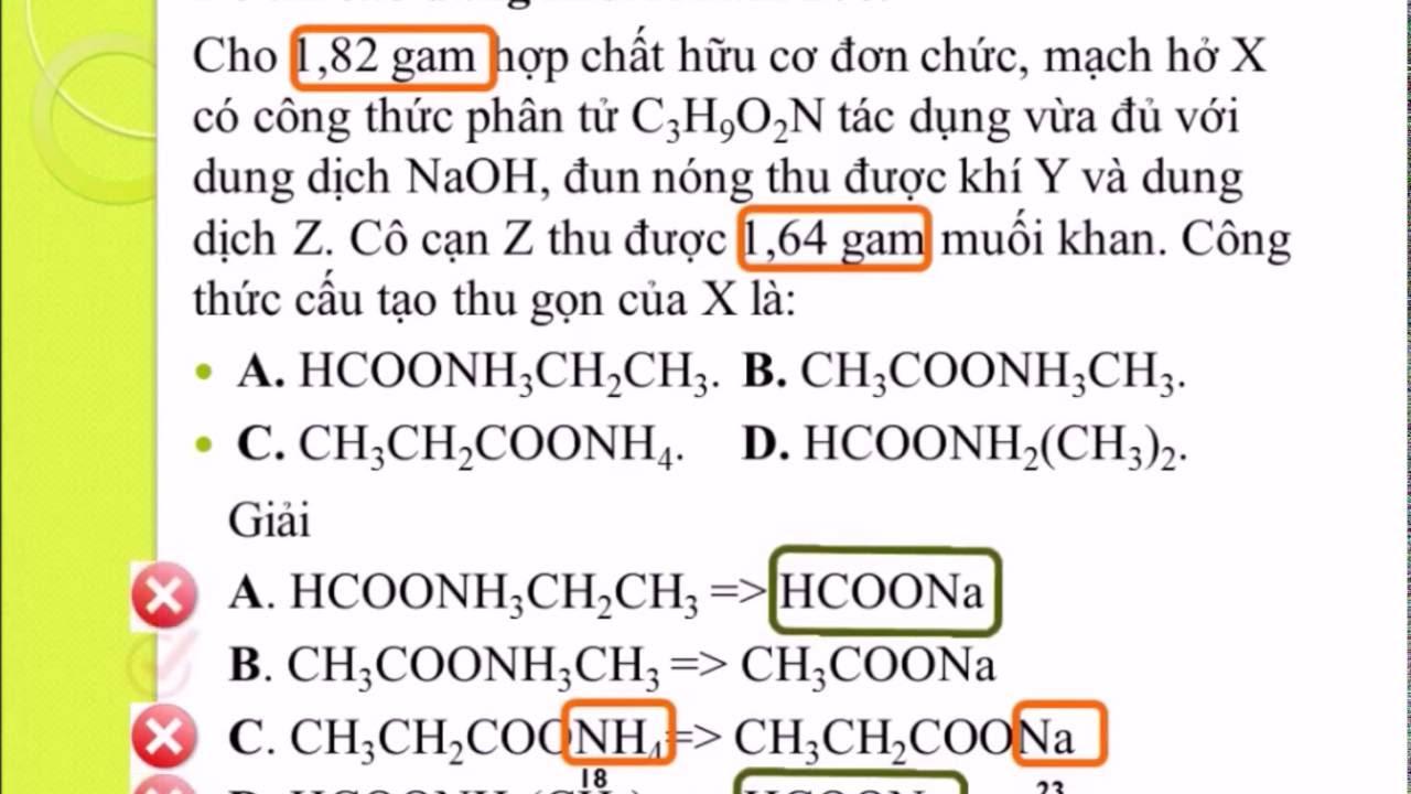 Chuyên đề 1: Sử dụng đáp án trong đề thi trắc nghiệm môn Hóa học