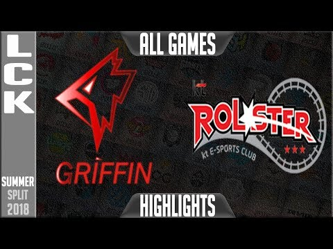 GRF vs KT Highlights ALL GAMES - LCK Summer 2018 Week 5 Day - Griffin vs KT Rolster