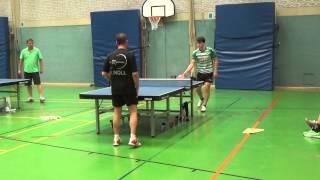 Unterasbach Zinner Tischtennis Turnier 2015  A Kl 22M Noll Bayreuth Noppen Jonas Scheer 1