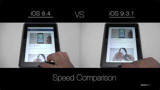 iOS 8 vs iOS 9 - iPad Speed Test