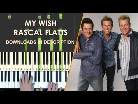 My Wish piano cover tutorial with Synthesia MIDI