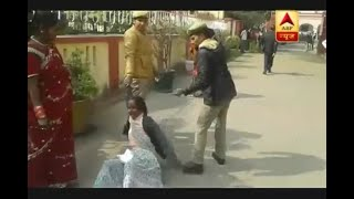 Sitapur Police shows inhuman side, drags old woman outside Police Station