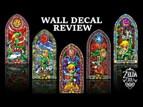 Legend of Zelda Wall Decal Review  sc 1 st  YouTube & Legend of Zelda Wall Decal Review - YouTube