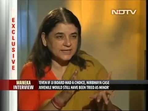 Smt.Maneka Sanjay Gandhi, Interview on NDTV Part-1