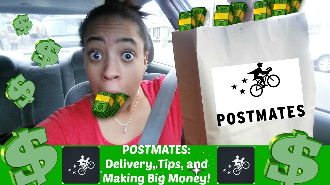 Driving with POSTMATES:Delivery App, Tips, Payment, And Making Big Money!  Vlog (Review)