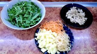 Зеленый борщ с курицей и яйцом вкусный и полезный/Мой рецепт приготовления щавеля