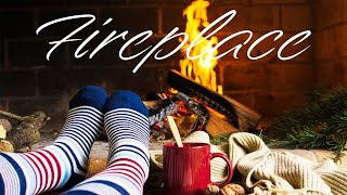 Relaxing Fireplace - Smooth Background JAZZ Music - Chill Out Music
