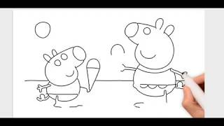 Download Como Dibujar Y Pintar Baby Alexander Y Peppa Pig Video