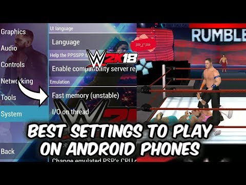 WWE 2K18 PSP, Android/PPSSPP V1.77 - Best Settings To Play Royal Rumble On Android Devices