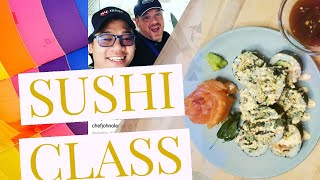 Sushi Class.  a tutorial on how to make sushi rice and sushi rolls