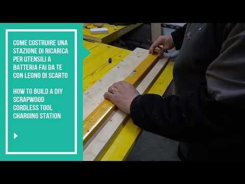 Costruire stazione di ricarica utensili cordless (build diy scrapwood cordless charging station)