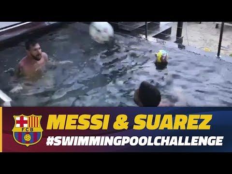 Messi & Luis Suárez: Swimming Pool Challenge