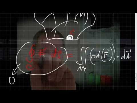 Rotation eines 3D-Vektorfelds, Satz von Stokes