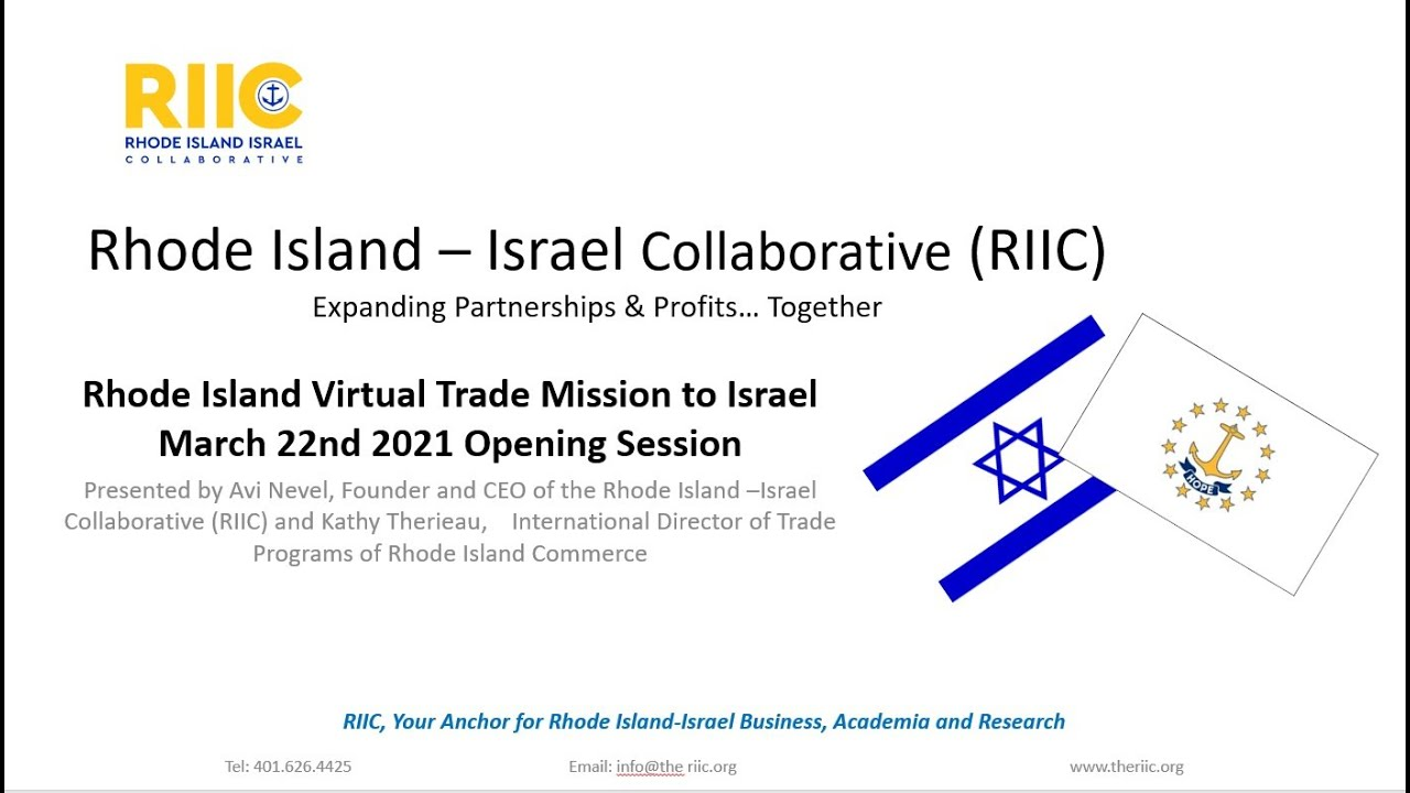 Rhode Island Israel Virtual Mission Officially Launched with an Opening Session March 22nd.