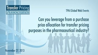 Pharmaceuticals | Can you leverage from a purchase price allocation for transfer pricing purposes?