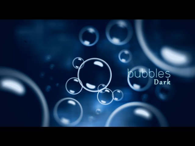 Bubbles design - Adobe Illustrator/Photoshop - Dark
