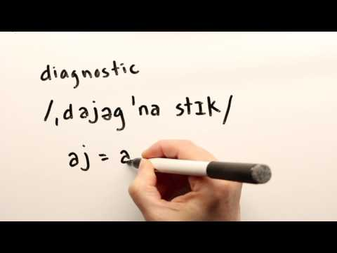 How to pronounce diagnostic and diagnostically