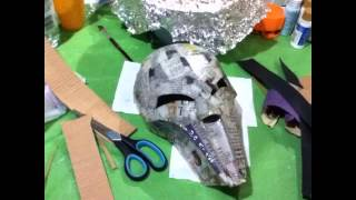 How to make your own Sith Acolyte mask part 1: Paper mache construction