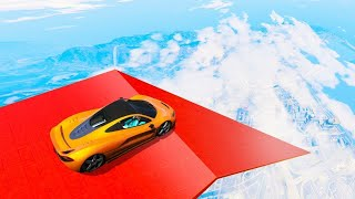 IMPOSSIBLE 999,999 FEET STUNT RAMP! (GTA 5 Funny Moments)