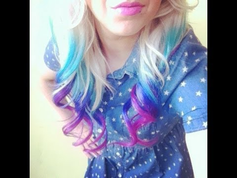 How to diy bright ombre hair youtube solutioingenieria