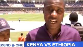 Kenyans flood Kasarani Stadium ahead of the Kenya VS Ethiopia match