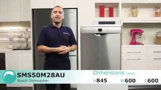Bosch SMS50M28AU Serie 6 Dishwasher reviewed by product expert - Appliances Online