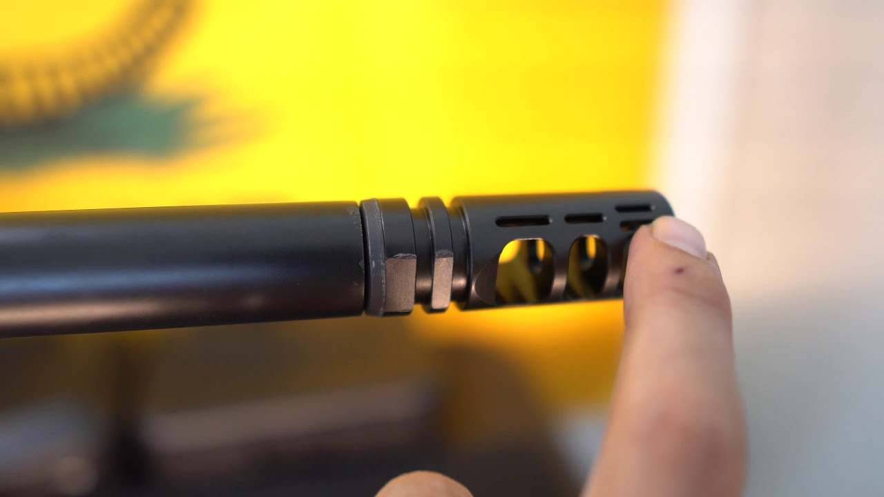 Muzzle Brake Install On Remington 700 Youtube