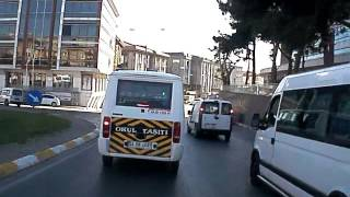 ÖĞRENCİ SERVİS ARACI KAZA ANI  ANA OKULU Öğrenci servisi aracı kaza anı 02:00