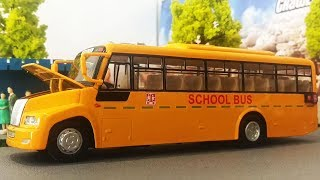 The Wheels on the Bus | The Wheels on the Car | Bus and Bus | School bus Cartoon Toys