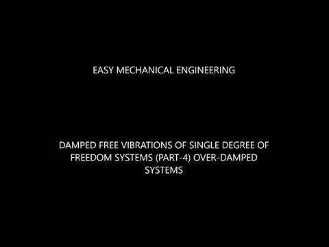 Damped free vibrations of single degree of freedom system (part-4) over-damped systems
