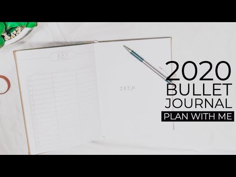 2020 SIMPLE BULLET JOURNAL SET UP   Plan with Me!