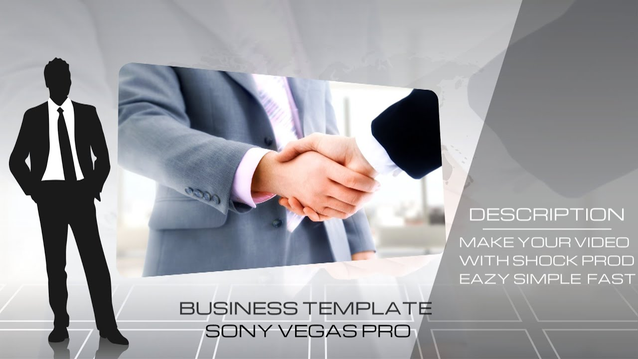corporate business template sony vegas 11 12 13 - youtube, Presentation templates