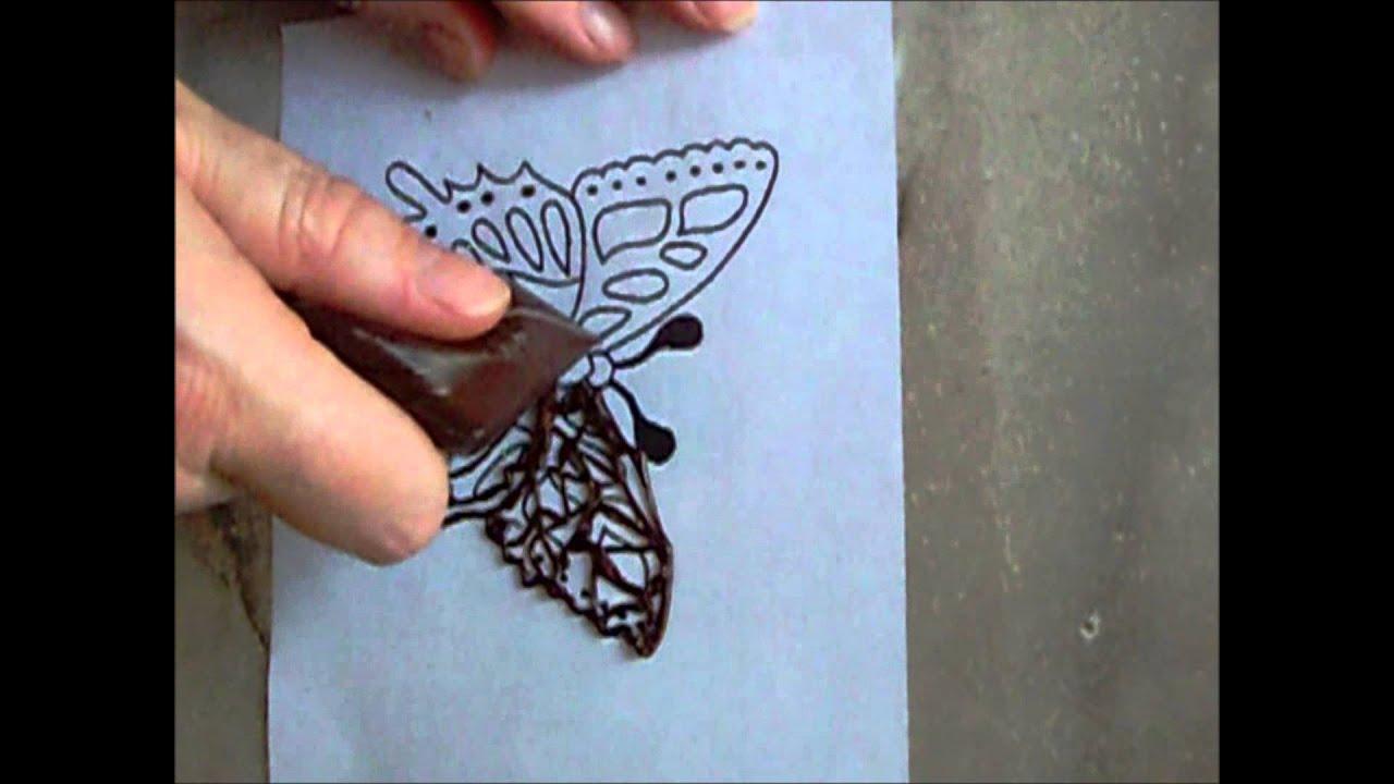 Как сделать бабочки из шоколада на торт своими 9