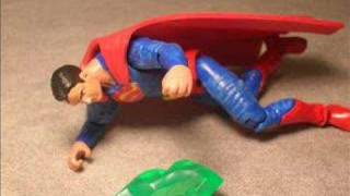 Custom 25th GI Joe Superman Action Figure with Custom Base