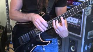 Chris Broderick of Megadeth insane 2-handed tapping. July, 2013